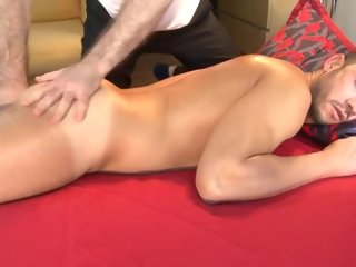 massage 4 hands massage helter-skelter sexy delivery guy, nico about spite of him hands